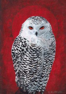 Snow Owl Painting