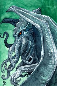 Cthulhu Watercolor Illustration