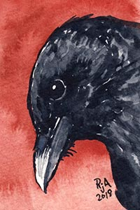Crow Watercolor